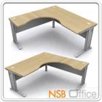 A18A019:โต๊ะทำงานโล่งตัวแอล ขาเหล็ก 160-180W1*180W2 *80D1*60D2 cm.ผิวเมลามีน
