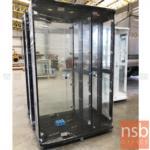 ตู้โชว์กระจกดาวน์ไลท์ ขนาด 118W*40D*190H cm. รุ่น DW-7651 มีไฟในตัว (หลังกระจกเงา)