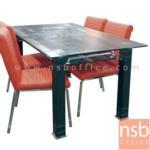 G14A117:โต๊ะอาหารหน้ากระจก ขนาด 150W*90D*75H cm.