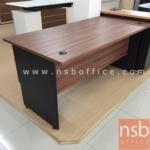 โต๊ะทำงานโล่ง  รุ่น SP-WN021  ขนาด 120W cm. เมลามีน สีวอลนัทตัดดำ