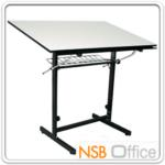 E06A019:โต๊ะเขียนแบบ 119.4W*80D*95.3H cm. TD-02108 ปรับองศาได้ มีตะแกรงข้างใต้