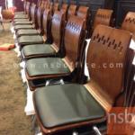 B20A064:เก้าอี้ไม้วีเนียร์ดัด ที่นั่งเบาะ IT-YALA-7 พิเศษ มีขอเกี่ยวข้าง (เรียงตรงง่าย)