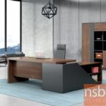 A16A073:โต๊ะผู้บริหารตัวแอล  รุ่น FSN2024 ขนาด 200W ,240W cm. เมลามีนล้วน
