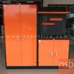 E09A021:ชุดตู้เก็บเครื่องมือช่าง 183.5W*49.7D*183H cm.พร้อมแผ่นท็อปแผ่นชั้นและอุปกรณ์เสริม