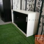 L03A064:ตู้ไม้สีโอ๊ค/ขาว