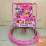 L08A052:รถหัดเดินสีชมพู มีโมบายของเด็ก
