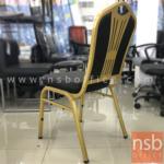 เก้าอี้โมเดิร์นหนังเทียม รุ่น NSB-CHAIR9 ขนาด 41W*95H cm. โครงสีทอง (STOCK-1 ตัว)