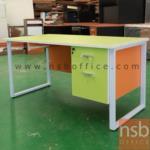 A18A038:โต๊ะทำงาน 2 ลิ้นชัก รุ่น CV-MARCH-1 ขนาด 120W ,135W ,150W ,160W ,180W cm.  ขาเหล็กกล่องพ่นสี