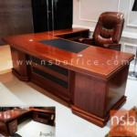 A06A136:โต๊ะผู้บริหารตัวแอล รุ่น BC-N240 ขนาด 240W cm. พร้อมตู้ข้างและตู้ลิ้นชัก