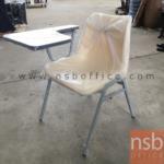 B07A082:เก้าอี้เลคเชอร์เฟรมโพลี่ล้วน มีเส้นคาดข้าง รุ่น SH-02  ขาเหล็ก