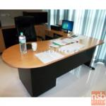 A13A050:ชุดโต๊ะทำงานตัวแอล 3 ลิ้นชัก พร้อมโต๊ะคอมพิวเตอร์ต่อข้าง รุ่น PF-PANEL PLUS SET