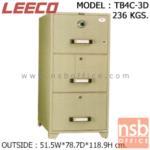 F02A015:ตู้เซฟ 3 ลิ้นชักแฟ้มแขวน 236 กก. ลีโก้ รุ่น LEECO-TB4C-3D มี 3 กุญแจ 1 รหัส (เปลี่ยนรหัสไม่ได้)