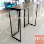 G14A110:โต๊ะบาร์สูงขาเหล็กกล่อง  ขนาด 120W , 150W cm.