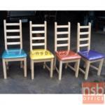 G14A057:เก้าอี้เนอกประสงค์  รุ่น KS-PPY-2  ที่นั่งหุ้มหนังเทียม (ไม้ยางพารา, ไม้นิวซีแลนด์)