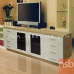 ตู้วางทีวี 2 บานเปิด 4 ลิ้นชักข้างซ้ายขวา รุ่น ID-HOYA3  ขนาด 150W*52H cm.