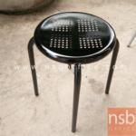 L02A214:เก้าอี้กลมเหล็ก สีดำ ขนาด30*30*44 มีจำนวน2ตัว