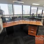 ชุดโต๊ะทำงานกลุ่ม 3 ที่นั่ง  รุ่น NSB-005 ขนาด 90W ,120W cm. พร้อมมินิสกรีน