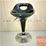 L02A065:เก้าอี้บาร์สูง สีดำ มีที่พักเท้า ปรับระดับได้