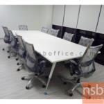 โต๊ะประชุมทรงสี่เหลี่ยม   ขนาด 300W ,340W ,380W ,460W cm.  ขาเหล็กปลายเรียว