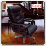 B25A011:เก้าอี้ผู้บริหาร LEEK หนัง PU แขนขาลายไม้