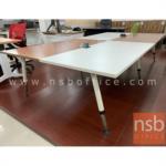 โต๊ะประชุมทรงสี่เหลี่ยม 12 ที่นั่ง  รุ่น TY-FC40-6123 ขนาด 320W cm. พร้อมฝาเปิดปิดปลั๊กไฟบนโต๊ะ ขาเหล็ก