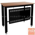 โต๊ะทำงาน  รุ่น PS-BOX-P ขนาด 120W ,150W cm.  พร้อมบังตาเหล็ก สีวอลนัทตัดดำ