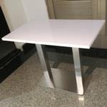 โต๊ะบาร์ COFFEE รุ่น Ceres (ซีรีส) ขนาด 120W cm. ขาเหล็กฐานเหลี่ยมแบนยาว