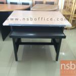 E07A053:โต๊ะคอมพิวเตอร์เหล็กหน้า TOP ไม้เมลามีน 3 ลิ้นชัก 3 ฟุต พร้อมรางคีย์บอร์ด