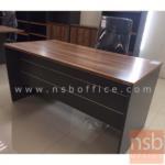 โต๊ะทำงาน รุ่น SR-Z01068 ขนาด 160W ,180W cm.  ขาไม้ สีลายไม้ซีบราโน่ตัดดำ ขอบ ROSEGOLD
