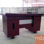 A06A069:โต๊ะผู้บริหารทรงตรง 3 ลิ้นชัก  รุ่น FTS-FCF553S ขนาด 138W cm. พร้อมรางคีย์บอร์ด