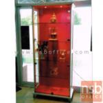 G06A027:ตู้โชว์กระจกดาวน์ไลท์ 2 บานเปิดกระจก สูง 190 ซม. รุ่น SFK-LDD-043  มีไฟในตัว