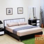 G12A231:เตียงไม้  ขนาด 5 , 6 ฟุต สีโอ๊คตัดขาว