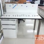 โต๊ะทำงาน 3 ลิ้นชัก  ขนาด 120W ,150W ,160W ,180W cm.  ขาเหล็กเหลี่ยม