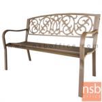 G08A290:เก้าอี้สนามเหล็ก รุ่น Mason (เมสัน)  พนักพิงลายดอกไม้