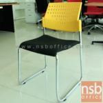 B05A125:เก้าอี้โพลี่เอนกประสงค์ ขาตัวยู รุ่น VC-PP-U เหล็กชุบโครเมี่ยม