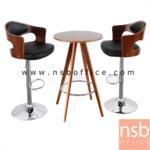 B09A174:ชุดโต๊ะเก้าอี้ไม้ รุ่น TNP-N2701BNP-R 9302