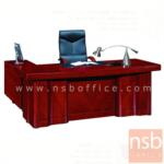 A06A132:โต๊ะผู้บริหารตัวแอล  รุ่น DM-SHP160 ขนาด 160W cm. พร้อมโต๊ะข้างและตู้
