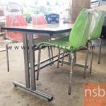 A07A032:โต๊ะประชุมหน้าโฟเมก้าขาว รุ่น PL-DM02157  120W cm.  มีที่แขวนจัดเก็บเก้าอี้