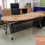 A13A053:โต๊ะผู้บริหารรูปถั่ว ขนาด 200W* 90D* 75H cm. ขาเหล็ก