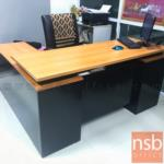 โต๊ะทำงานตัวแอล รุ่น Bridget (บริดเจ็ท) ขนาด 160W*140D*75H cm. เมลามีน (พร้อมตู้ข้าง แอลขวา)