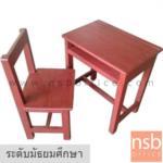 A17A065:ชุดโต๊ะและเก้าอี้นักเรียนไม้แข็งล้วน รุ่น MICHIGAN (มิชิแกน)  ระดับมัธยมศึกษา