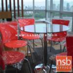 B05A066:เก้าอี้เอนกประสงค์เฟรมโพลี่ รุ่น TD-431 ขาเหล็กพ่นเทา