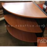 A01A014:โต๊ะเข้ามุม 3 ชั้น มี 2 ขนาดคือ R60 และ R75 ผิวพีวีซี ขอบยาง