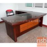 A06A066:โต๊ะบริหารตัวแอล รุ่น FTS-FCF053 พร้อมตู้ข้าง และลิ้นชัก (160W, 180W, W200 cm.)