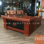 A06A122:โต๊ะผู้บริหารตัวแอล  รุ่น BC-NA ขนาด 180W ,200W cm.  พร้อมตู้ข้างและตู้ลิ้นชัก
