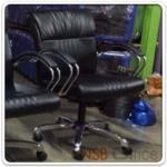 B03A327:เก้าอี้พนักพิงระดับไหล่ หุ้มหนังเทียม รุ่น HC-OFC-1L โช๊คแก๊ส หลังสปริง ก้อนโยก