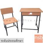 A17A051:ชุดโต๊ะและเก้าอี้นักเรียน รุ่น MY-4  ระดับประถมศึกษา โครงขาเหล็กกลมสีดำ มอก.