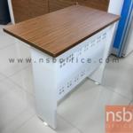 A34A027:โต๊ะต่อข้าง บังโป๊เหล็ก 80W*45D cm. รุ่น SR-BN-RSA-008LR สีซีบราโน่/ขาว