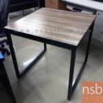 A07A062:โต๊ะไม้เมลามีน  ขนาด 75W cm.  ขาเหล็กกล่องพ่นสีดำ
