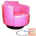 B31A027:เก้าอี้หมุนแนววินเทจ รุ่น VINTAGE-MALEE หนังเทียมชนิดมันและเงา